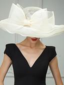 ราคาถูก เครื่องประดับ-Flax Kentucky Derby Hat / หมวก / ฮารด์แวร์ กับ ดอกไม้ 1pc งานแต่งงาน / โอกาสพิเศษ / ที่มา หูฟัง