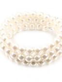 Χαμηλού Κόστους Ανδρικά μπλουζάκια και φανελάκια-Γυναικεία Βραχιόλι με χάντρες Φτηνός Μοναδικό Μοντέρνα Μαργαριτάρι Βραχιόλι Κοσμήματα Λευκό Για Πάρτι Καθημερινά Causal