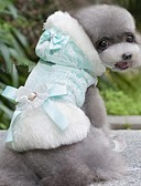 billiga Modeklockor-Hund Tröjor Vinter Hundkläder Gul Blå Kostym Cotton Rosett S M L XL