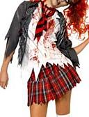 baratos Conjunto-Zombie Fantasias de Cosplay Mulheres Mais Uniformes Dia Das Bruxas Festival / Celebração Elastano Poliéster Mulheres Trajes de Carnaval / Blusa