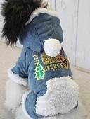 billiga Modeklockor-Hund Kappor Vinter Hundkläder Blå Rosa Mörkblå Kostym Cotton