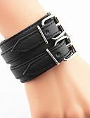 billiga Frackur-Armringar Läder Armband Kors damer Unik design Ledigt Läder Europeisk Läder Armband Smycken Vit / Svart Till Julklappar