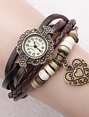 ราคาถูก นาฬิกาข้อมือ-สำหรับผู้หญิง นาฬิกาสร้อยข้อมือ ห่อนาฬิกา นาฬิกาอิเล็กทรอนิกส์ (Quartz) PU Leather ดำ / สีขาว / ฟ้า ระบบอนาล็อก สุภาพสตรี ดอกไม้ รูปหัวใจ โบฮีเมียน แฟชั่น - แดง สีเขียว ฟ้า / หนึ่งปี / หนึ่งปี