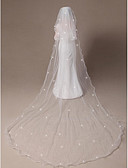 povoljno Vjenčani velovi-Two-tier Pencil Edge / Ojačani rub Vjenčani velovi Elbow Burke / Katedrala Burke s Scattered Crystals Style 118,11 u (300cm) Til
