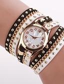 ราคาถูก เสื้อกันหนาวผู้หญิง-สำหรับผู้หญิง นาฬิกาแฟชั่น นาฬิกาสร้อยข้อมือ นาฬิกาอิเล็กทรอนิกส์ (Quartz) PU Leather ดำ / สีขาว ระบบอนาล็อก สีดำและสีขาว หนึ่งปี อายุการใช้งานแบตเตอรี่ / Jinli 377