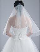 Χαμηλού Κόστους Πέπλα Γάμου-Μίας Βαθμίδας Πέπλα Γάμου Τεμάχια κεφαλής με πέπλο με 59,06 ίντσες (150εκ) Τούλι
