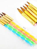 billige Neglelakk og gellakk-5pcs fem farger størrelser 2-veis profesjonell uv gel pensel satt akryl spiker kunst maleri uavgjort børste