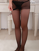 Χαμηλού Κόστους Κάλτσες & Καλσόν-Γυναικεία Δίχτυ Sexy Σούπερ Σέξι Πυτζάμες Μονόχρωμο Μαύρο Μπεζ Ένα Μέγεθος