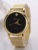 ราคาถูก เสื้อกันหนาวผู้หญิง-สำหรับผู้หญิง นาฬิกาแฟชั่น นาฬิกาตกแต่งข้อมือ นาฬิกาข้อมือ นาฬิกาอิเล็กทรอนิกส์ (Quartz) โลหะผสม วงดนตรี กีฬา ทอง / Rose Gold - ขาว สีดำ