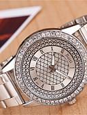 ราคาถูก นาฬิกาข้อมือแฟชั่น-yoonheel สำหรับผู้หญิง นาฬิกาข้อมือ นาฬิกาอิเล็กทรอนิกส์ (Quartz) โลหะ เงิน / ทอง นาฬิกาใส่ลำลอง ระบบอนาล็อก เสน่ห์ แฟชั่น Bling Bling - สีเงิน ทอง หนึ่งปี อายุการใช้งานแบตเตอรี่ / SODA AG4