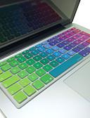 """Χαμηλού Κόστους Αξεσουάρ MacBook-coosbo® σουηδική δέρμα κάλυψης πολύχρωμο πληκτρολόγιο σιλικόνης διάταξη της ΕΕ για 13 """"/ 15"""" / 17 """"αέρα Mac MacBook Pro / αμφιβληστροειδή"""