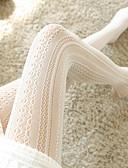 ราคาถูก ถุงเท้าและชุดชั้นใน-สำหรับผู้หญิง ถุงน่อง - ลายพิมพ์ กลาง ขาว สีดำ ขนาดเดียว