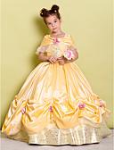 Χαμηλού Κόστους Λουλουδάτα φορέματα για κορίτσια-Βραδινή τουαλέτα Μακρύ Φόρεμα για Κοριτσάκι Λουλουδιών - Ταφτάς Αμάνικο Ώμοι Έξω με Φιόγκος(οι) / Λουλούδι