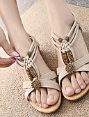 povoljno Vanjska odjeća za bebe-Žene Sandale Niska potpetica Peep Toe Zakovica Brušena koža Uglađeni Proljeće Obala / Crn / EU40