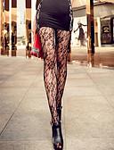 ราคาถูก ถุงเท้าและชุดชั้นใน-สำหรับผู้หญิง ถุงน่อง - ลายพิมพ์ บาง สีหน้าจอ ขนาดเดียว