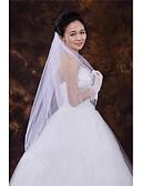 ราคาถูก ม่านสำหรับงานแต่งงาน-ชั้นเดียว Beaded Edge ผ้าคลุมหน้าชุดแต่งงาน ผ้าคลุมศรีษะสำหรับชุดแต่งงาน กับ ของประดับด้วยลูกปัด Tulle / คลาสสิก