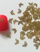 Χαμηλού Κόστους Στρας&Διακοσμητικά-Μεταλλικό Κοσμήματα Νυχιών Για δάχτυλο τέχνη νυχιών Μανικιούρ Πεντικιούρ Αφηρημένο / Κλασσικό / Πανκ Καθημερινά
