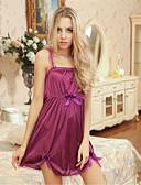 ราคาถูก เสื้อคลุมและชุดนอน-สำหรับผู้หญิง ลูกไม้ ขนาดพิเศษ เท็ดดี้ เสื้อนอน - ลูกไม้ สีพื้น สีม่วง XL XXL XXXL