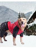 ราคาถูก สูท-สุนัข เสื้อโค้ต เสื้อแจ็คเก็ต ฤดูหนาว Dog Clothes ส้ม สีเหลือง แดง เครื่องแต่งกาย เด็กทารก หมาตัวเล็ก ฝ้าย S M L XL / สุนัขตัวใหญ่
