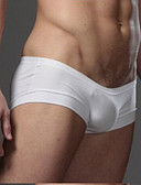 ราคาถูก ชุดลำลองชาย-สำหรับผู้ชาย สไตล์สมัยใหม่, สีพื้น - Sexy กางเกงในบ็อกเซอร์ ไหมสังเคราะห์ / Modal เอวต่ำ / สกินนี่