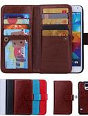 Χαμηλού Κόστους Αξεσουάρ Samsung-tok Για Samsung Galaxy S6 edge / S6 / S5 Πορτοφόλι / Θήκη καρτών / Ανοιγόμενη Πλήρης Θήκη Μονόχρωμο PU δέρμα