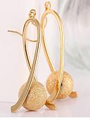 billiga Wraps & halsdukar för kvinnor-Dam Dropp Örhängen Lång Pärlor Hängande damer Elegant Italienska Guldpläterad örhängen Smycken Guld Till