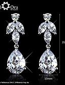 Χαμηλού Κόστους Βίντατζ Βασίλισσα-Γυναικεία Cubic Zirconia Κρεμαστά Σκουλαρίκια Cubic Zirconia Σκουλαρίκια Κοσμήματα Λευκό Για