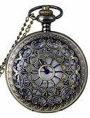 ราคาถูก นาฬิกาพก-สำหรับผู้ชาย สำหรับผู้หญิง ทุกเพศ นาฬิกาแบบพกพา นาฬิกาอิเล็กทรอนิกส์ (Quartz) 30 m แกะสลักกลวง ระบบอนาล็อก สไตล์วินเทจ Punk & สไตล์โกธิค Steampunk