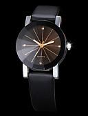 ราคาถูก นาฬิกาข้อมือแฟชั่น-สำหรับคู่รัก นาฬิกาข้อมือ นาฬิกาอิเล็กทรอนิกส์ (Quartz) การจับคู่ ของเขาและเธอ PU Leather ดำ Creative เลียนแบบเพชร ระบบอนาล็อก แฟชั่น - สีดำ หนึ่งปี อายุการใช้งานแบตเตอรี่ / SSUO 377