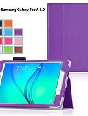 Χαμηλού Κόστους Θήκη Samsung-tok Για Samsung Galaxy / Καρτέλα Α 8.0 / Καρτέλα Α 9.7 με βάση στήριξης / Ανοιγόμενη Πλήρης Θήκη Μονόχρωμο PU δέρμα