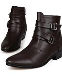 Χαμηλού Κόστους Men's Belt-Ανδρικά Παπούτσια άνεσης Μικροΐνα Φθινόπωρο / Χειμώνας Μπότες Αντιολισθητικό 10.16-15.24 cm / Μποτίνια Λευκό / Μαύρο / Καφέ / Πάρτι & Βραδινή Έξοδος
