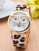 ราคาถูก นาฬิกาข้อมือแฟชั่น-สำหรับผู้หญิง สุภาพสตรี นาฬิกาข้อมือ นาฬิกาอิเล็กทรอนิกส์ (Quartz) แมว PU Leather ดำ / สีขาว / น้ำตาล นาฬิกาใส่ลำลอง ระบบอนาล็อก ไม่เป็นทางการ แฟชั่น - สีดำ เสือดาว ขาว หนึ่งปี อายุการใช้งานแบตเตอรี่