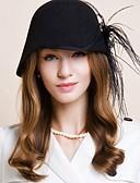 olcso Női kalapok-Gyapjú Kentucky Derby Hat / Kalap val vel 1 Esküvő / Különleges alkalom / Hétköznapi Sisak