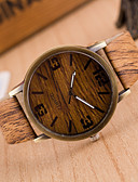 ราคาถูก นาฬิกาข้อมือแฟชั่น-สำหรับผู้หญิง นาฬิกาข้อมือ นาฬิกาอิเล็กทรอนิกส์ (Quartz) หนัง น้ำตาล / กากี นาฬิกาใส่ลำลอง ระบบอนาล็อก สุภาพสตรี วินเทจ แฟชั่น Wood - 4# 5# 6# หนึ่งปี อายุการใช้งานแบตเตอรี่ / Tianqiu 377