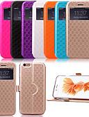 baratos Capinhas para iPhone-Capinha Para Apple iPhone X / iPhone 8 Plus / iPhone 8 Com Suporte / com Visor / Flip Capa Proteção Completa Estampa Geométrica Rígida PU Leather