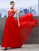 Χαμηλού Κόστους Φορέματα Χορού Αποφοίτησης-Γραμμή Α Ζιβάγκο Μακρύ Σιφόν Όμορφη Πλάτη Κοκτέιλ Πάρτι / Χοροεσπερίδα / Επίσημο Βραδινό Φόρεμα 2020 με Διακοσμητικά Επιράμματα