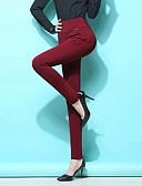 baratos Calças Femininas-Mulheres Básico Tamanhos Grandes Diário Skinny Calças / Leggings Calças - Sólido Preto Azul Marinho Vinho XXXXL XXXXXL XXXXXXL / Sexy