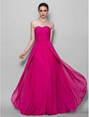 Χαμηλού Κόστους Βραδινά Φορέματα-Γραμμή Α Καρδιά Μακρύ Σιφόν Φόρεμα Παρανύμφων με Χιαστί
