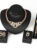 baratos Relógios de quartzo-Conjunto de jóias Strass Liga Mulheres