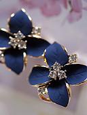 Χαμηλού Κόστους Γυναικεία περιτύλιγμα & κασκόλ-Γυναικεία Κουμπωτά Σκουλαρίκια Λουλουδάτο Λουλούδι Camellia κυρίες Μοντέρνα Κομψό Στρας Επιχρυσωμένο Σκουλαρίκια Κοσμήματα Ουράνιο Τόξο / Λευκό Για Πάρτι Καθημερινά Causal 1 Pair