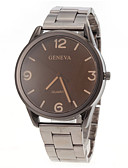 ราคาถูก นาฬิกาข้อมือสแตนเลส-สำหรับผู้ชาย นาฬิกาข้อมือ นาฬิกาอิเล็กทรอนิกส์ (Quartz) สแตนเลส เงิน นาฬิกาใส่ลำลอง ระบบอนาล็อก เสน่ห์ ดูง่าย - แดง ฟ้า สีกากี