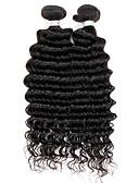billige Jumpsuits og sparkebukser til damer-Brasiliansk hår Dyp Bølge Ubehandlet hår Menneskehår Vevet Hårvever med menneskehår Hairextensions med menneskehår / 10A