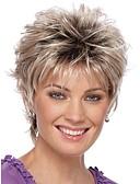 billiga Slipsar och flugor-Syntetiska peruker Lockigt Lockigt Pixie-frisyr Peruk Blond Korta Silver Syntetiskt hår Dam Ombre-hår Mörka hårrötter Naturlig hårlinje Blond StrongBeauty