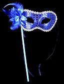 baratos Máscaras-Máscara Máscara de Halloween Mascara de carnaval Inspirado por Carnaval Veneziano Preto Azul Dia Das Bruxas Carnaval Baile de Máscaras Adulto Mulheres Feminino