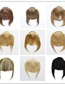 billiga Konståkningsdräkter-Trustfire Klämma in Människohår förlängningar Rak Klassisk Äkta hår Lugg Nano Beige Blond / Blekt Blont