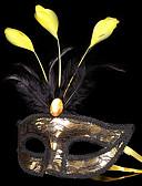 baratos Máscaras-Máscara Baile de Máscara Mascara de carnaval Inspirado por Carnaval Ouro + Black Branco Dia Das Bruxas Carnaval Baile de Máscaras Adulto Homens Mulheres