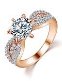 ราคาถูก นาฬิกาควอตซ์-สำหรับผู้หญิง วงแหวน แหวนเบลล์ คริสตัล สีเงิน ทอง เพทาย ทองเต็ม 18K แฟชั่น เกี่ยวกับเจ้าสาว งานแต่งงาน ปาร์ตี้ เครื่องประดับ เล่นไพ่คนเดียว Round ความรัก