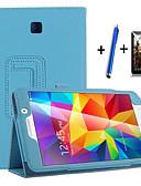 Χαμηλού Κόστους Θήκη Samsung-tok Για Samsung Galaxy Tab 4 7.0 με βάση στήριξης / Αυτόματη αδράνεια / αφύπνιση / Ανοιγόμενη Πλήρης Θήκη Μονόχρωμο Σκληρή PU δέρμα