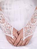 Χαμηλού Κόστους Πέπλα Γάμου-Ελαστικό Σατέν / Μετάξι Μέχρι τον αγκώνα Γάντι Νυφικά Γάντια Με Φιόγκος