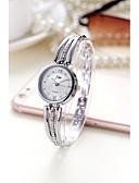 ราคาถูก เคสสำหรับโทรศัพท์มือถือ-สำหรับผู้หญิง นาฬิกาแฟชั่น นาฬิกาอิเล็กทรอนิกส์ (Quartz) นาฬิกาใส่ลำลอง โลหะผสม วงดนตรี ระบบอนาล็อก สง่างาม ทอง - สีเงิน ทอง หนึ่งปี อายุการใช้งานแบตเตอรี่ / SSUO 377